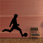 Shooting Soccer Player Decal