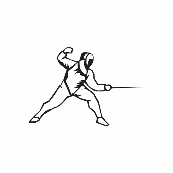 Fencing Wall Decal - Vinyl Decal - Car Decal - DC 002