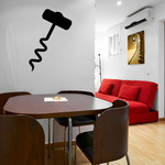 Wine Corkscrew Decal