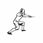 Fencing Wall Decal - Vinyl Decal - Car Decal - DC 007