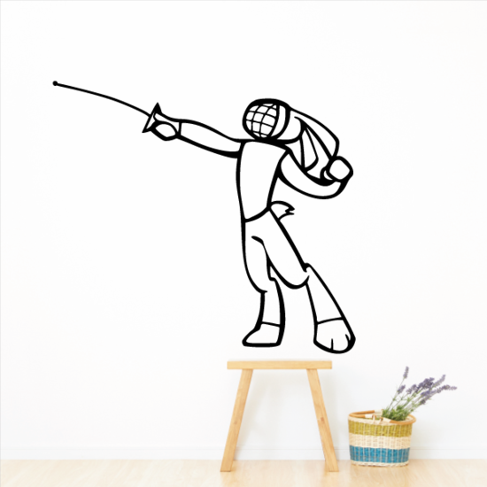 Fencing Wall Decal - Vinyl Decal - Car Decal - CDS002