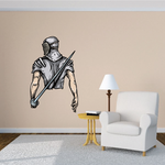 Fencing Knight Wall Decal - Vinyl Car Sticker - Uscolor001