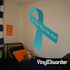 Sexual Assault And Sexual Violence Awareness Ribbon Vinyl Sticker