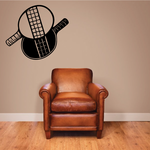 Crossed Ping Pong Rackets Decal