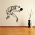 Lunging Ping Pong Player Decal
