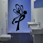 Ribbon Right Butterfly Decal