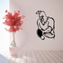 Rooster Ping Pong Player Decal