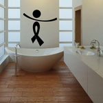 Ribbon Person with Arms Tilted Right Decal