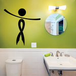Ribbon Long Person with Arms Tilted Right Decal