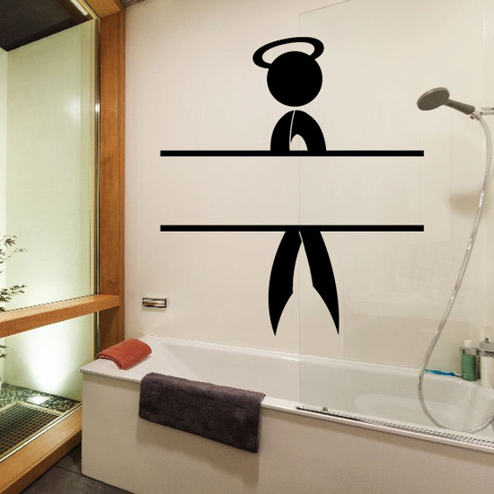 Ribbon Person with Halo and Open Placeholder Decal