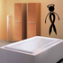 Ribbon Person with Halo Walking Decal