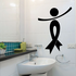 Ribbon Person Tilted Left Low Overlap Decal