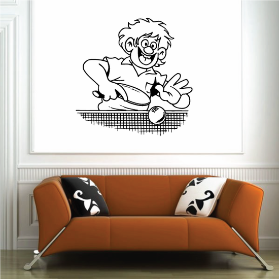 Ping pong Wall Decal - Vinyl Decal - Car Decal - Bl001