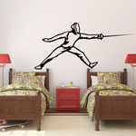 Fencing Wall Decal - Vinyl Decal - Car Decal - SM005