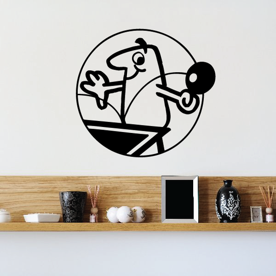 Ping pong Wall Decal - Vinyl Decal - Car Decal - Bl011