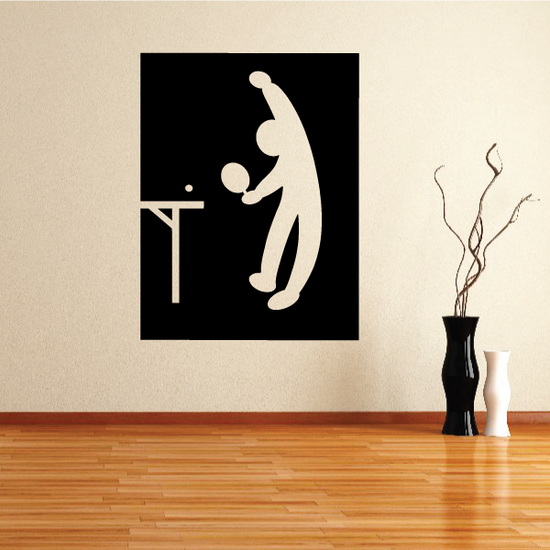 Ping pong Wall Decal - Vinyl Decal - Car Decal - Bl013