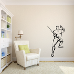 Fencing Wall Decal - Vinyl Decal - Car Decal - SM009
