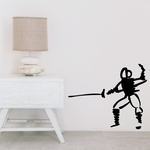 Fencing Wall Decal - Vinyl Decal - Car Decal - Bl008