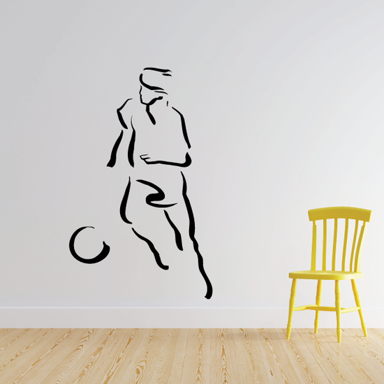 Soccer Wall Decal - Vinyl Decal - Car Decal - Bl063
