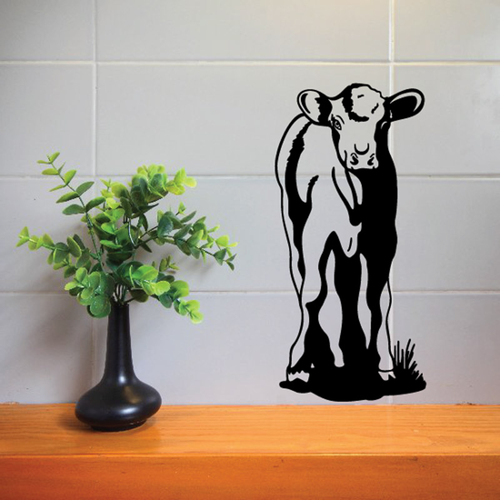 Hereford Cattle Cow Calf Watching Decal