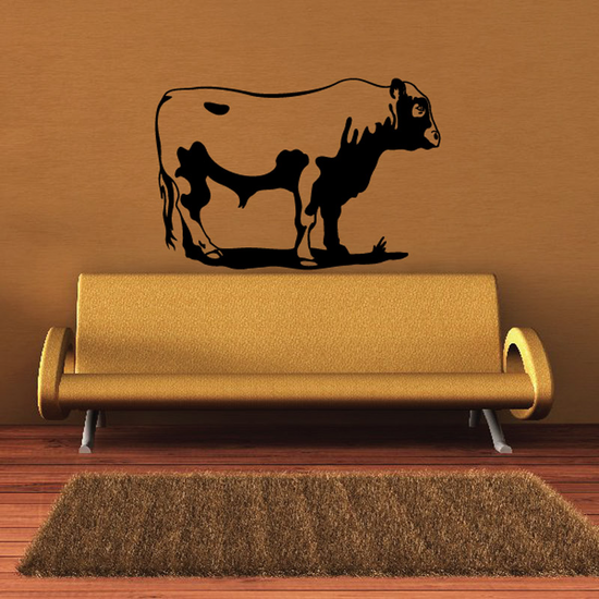 Classic Hereford Cow Cattle Standing Decal