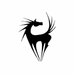 Spiney Horse Decal