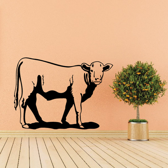 Watching Cattle Cow Decal