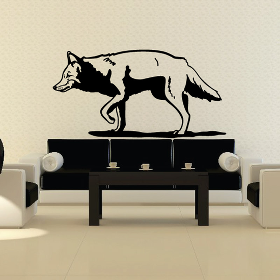 Clever Hunting Wolf Decal