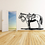 Standing Saddled Horse Decal