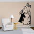 Howling Indian Wolf Decal