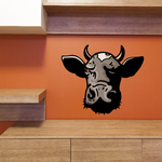 Sniffing Head Cow Cattle Sticker