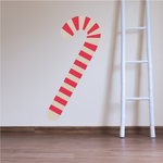 Illustrated Candy Cane Sticker
