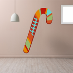 Colorful Candy Cane Sticker