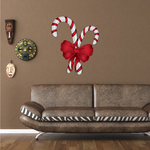 Candy Canes and Ribbon Sticker