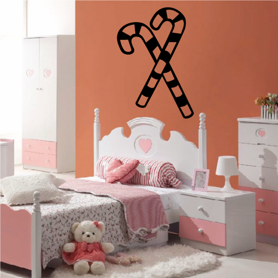 Candy Canes Wall Decal