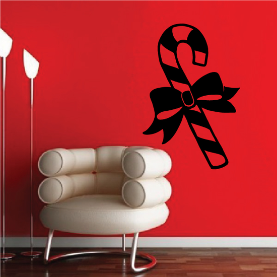 Candy Cane with Ribbon Decal
