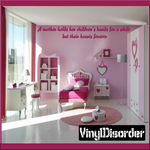 A mother holds her childrens hands Wall Decal