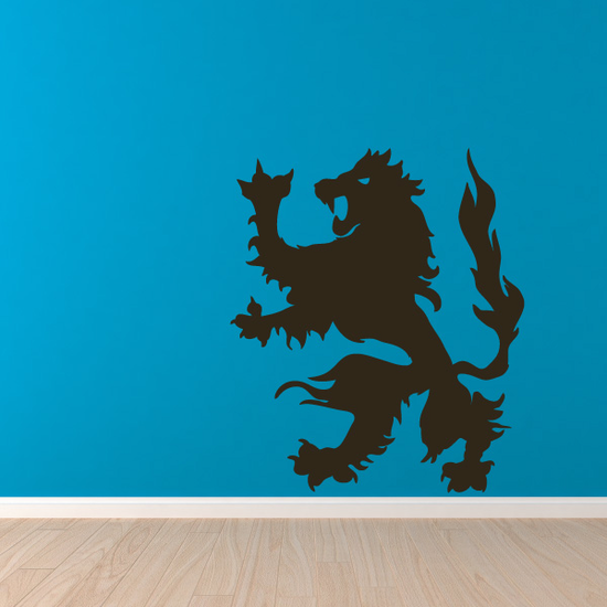 Flaming Lion Decal