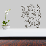 Flaming Lion Outline Decal