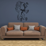 Euro Lion Outline Decal