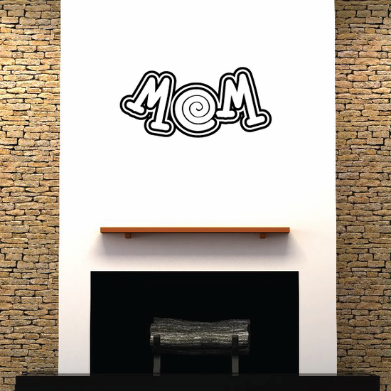 Mom Text  Decal