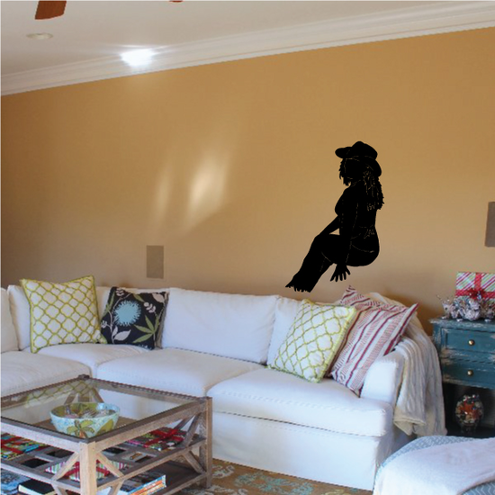 Cowgirl Wall Decal - Vinyl Decal - Car Decal - 076