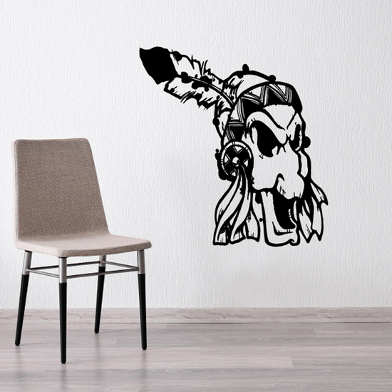 Native American Wall Decal - Vinyl Decal - Car Decal - DC6186