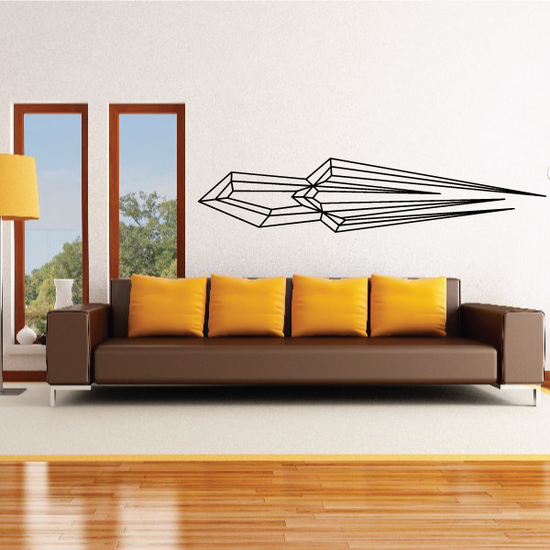 Geometric Pinstripe Wall Decal - Vinyl Decal - Car Decal - MC05