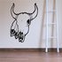 Cow skull Feathers Horns Wall Decal - Vinyl Decal - Car Decal - DC6105