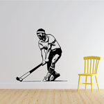 Male Field Hockey Player Decal