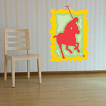 Red Polo Player Sticker