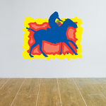 Blue and Yellow Polo Pony Sticker