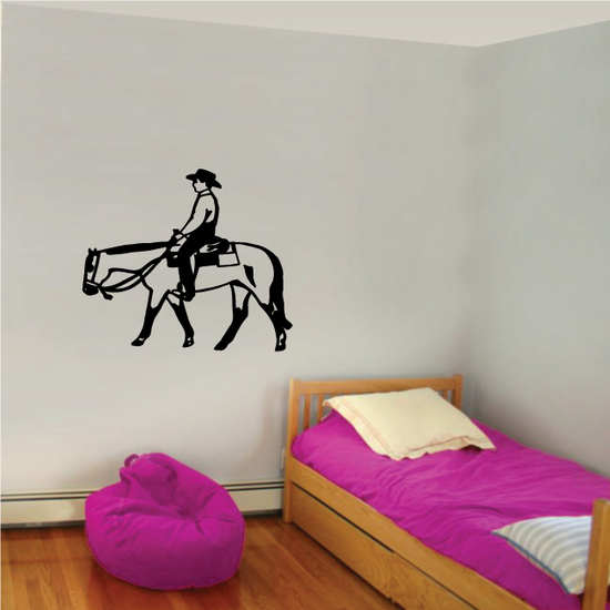 Bull Riding Wall Decal - Vinyl Decal - Car Decal - 056