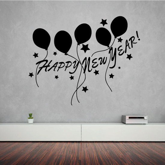 Balloons Happy New Year Decal